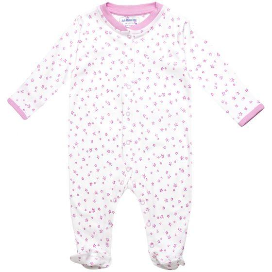Pijama para Bebé con Estampado de Estrellas Rosas