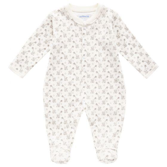Pijama para Bebés en color crema con Estampado de Jirafas