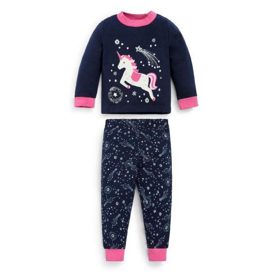 Pijama invierno Niña Unicornio Brilla en la Oscuridad