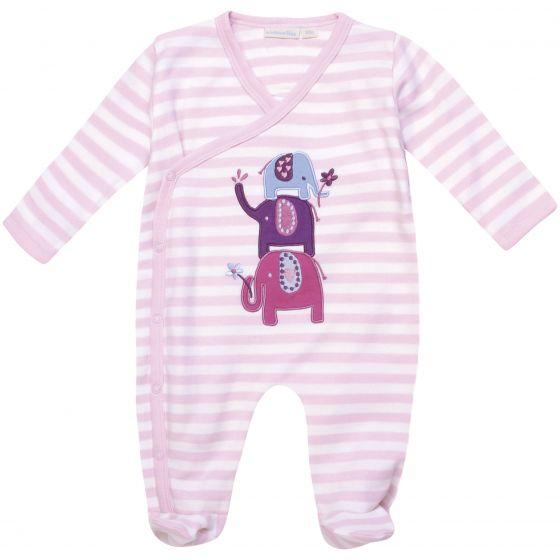 Pijama para Bebé de Elefantes Rosas