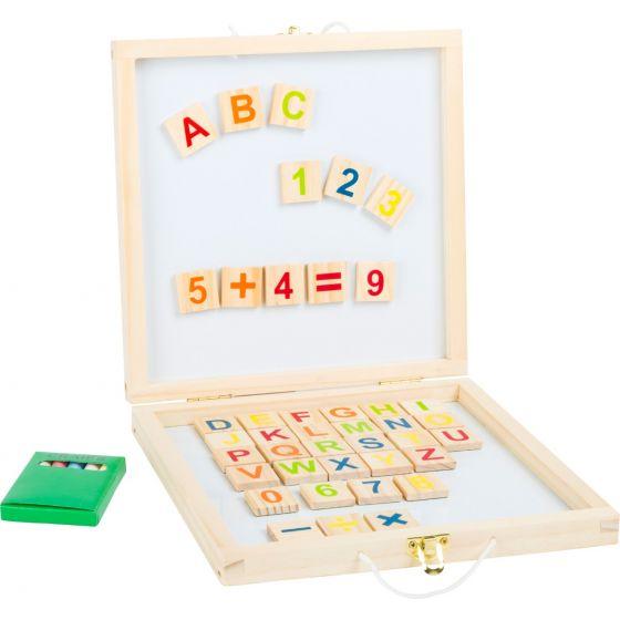 Pizarra de letras y números magnéticos