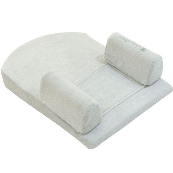 Posicionador para dormir a los bebés Memory Foam  Kikkaboo color menta