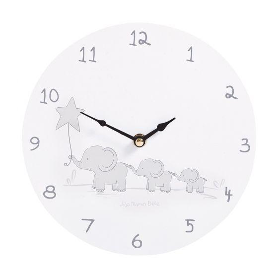 Reloj de Pared Infantil Elefantes Grises