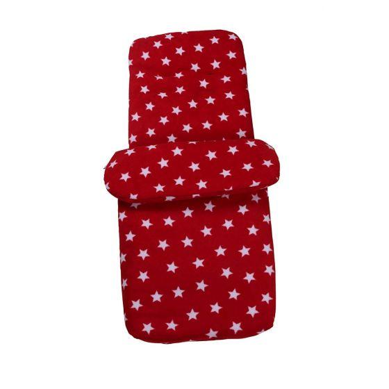 Saco Cubrepies Universal para Silla de Paseo y Cochecito Bebé - Estrellas rojo
