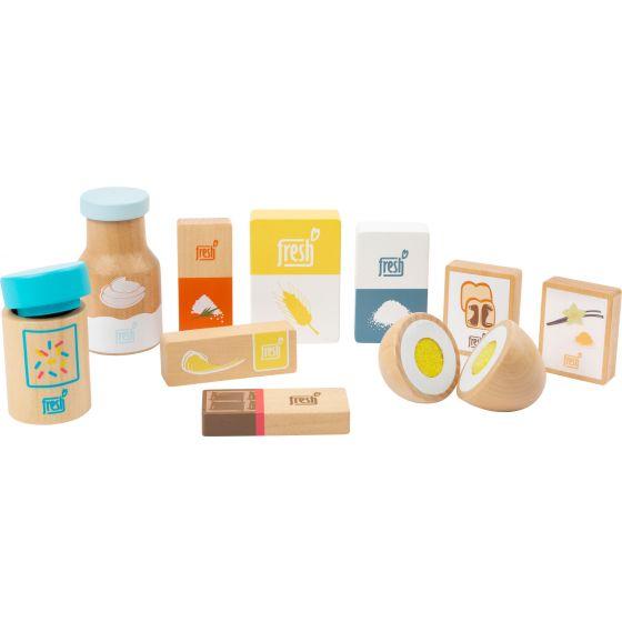 Set de ingredientes para hornear fresh , juguete de madera