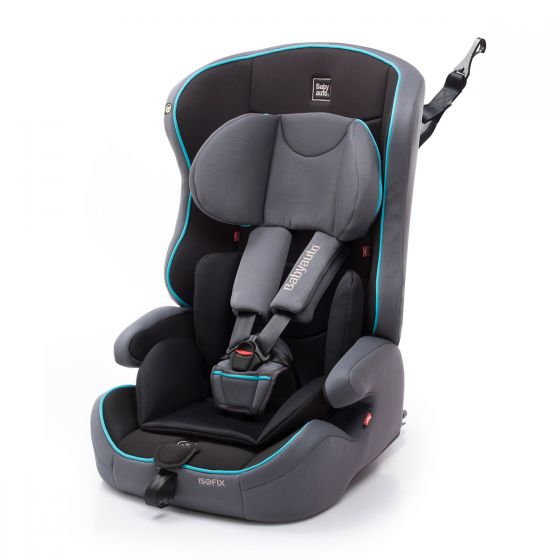 Silla de Coche Nico Fix Babyauto Grupo 1/2/3 color negro y turquesa