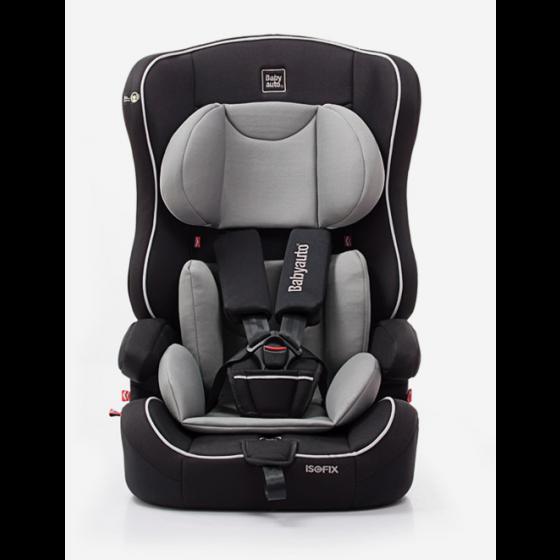 Silla de Coche Nico Fix Babyauto Grupo 1/2/3 color negro y gris