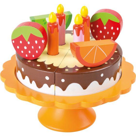 Tarta de Chocolate y Frutas - Juguete de Madera