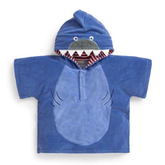 Toalla Poncho Tiburón para Bebés y Niños