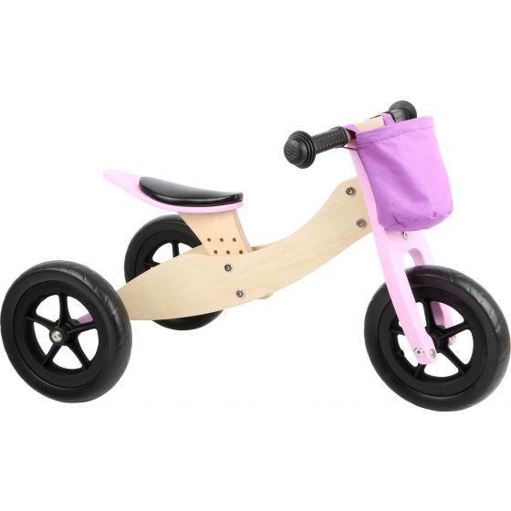 Triciclo-bicicleta Maxi 2 en 1 , Legler color rosa