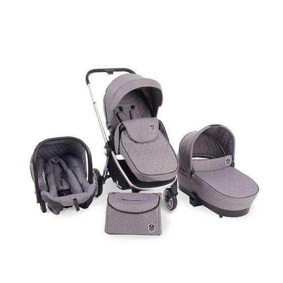 Cochecito de Bebé 3 en 1 Vicenza gris - Kikkaboo