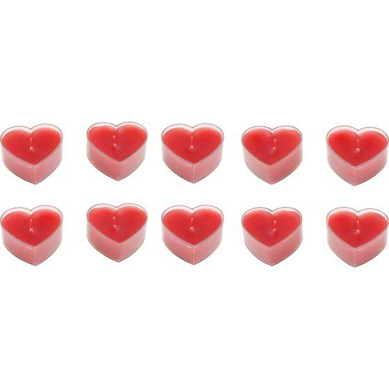 Velas con forma de corazón