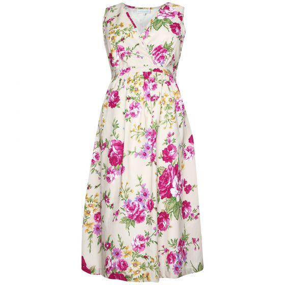 Vestido Premamá Estampado Rosas en color crema