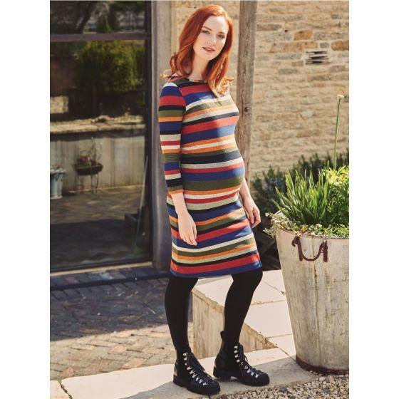 vestido premama rayas de colores