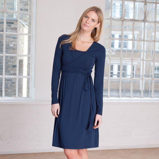 Vestido Embarazo y Lactancia Sofie Azul