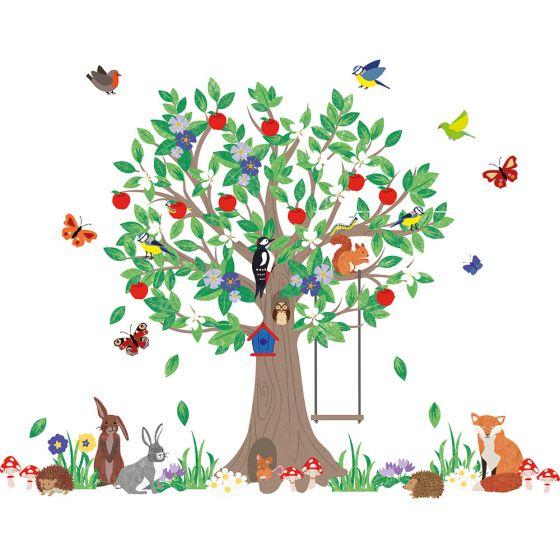 Vinilo Infantil Árbol del Bosque