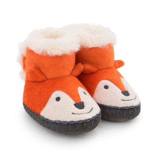 Zapatillas de casa Bebé y Niño Zorrito Naranja