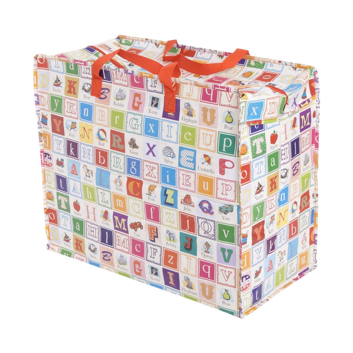 b65841769 Bolsa para Guardar Ropa y Juguetes Diseño Alfabeto - ShopMami