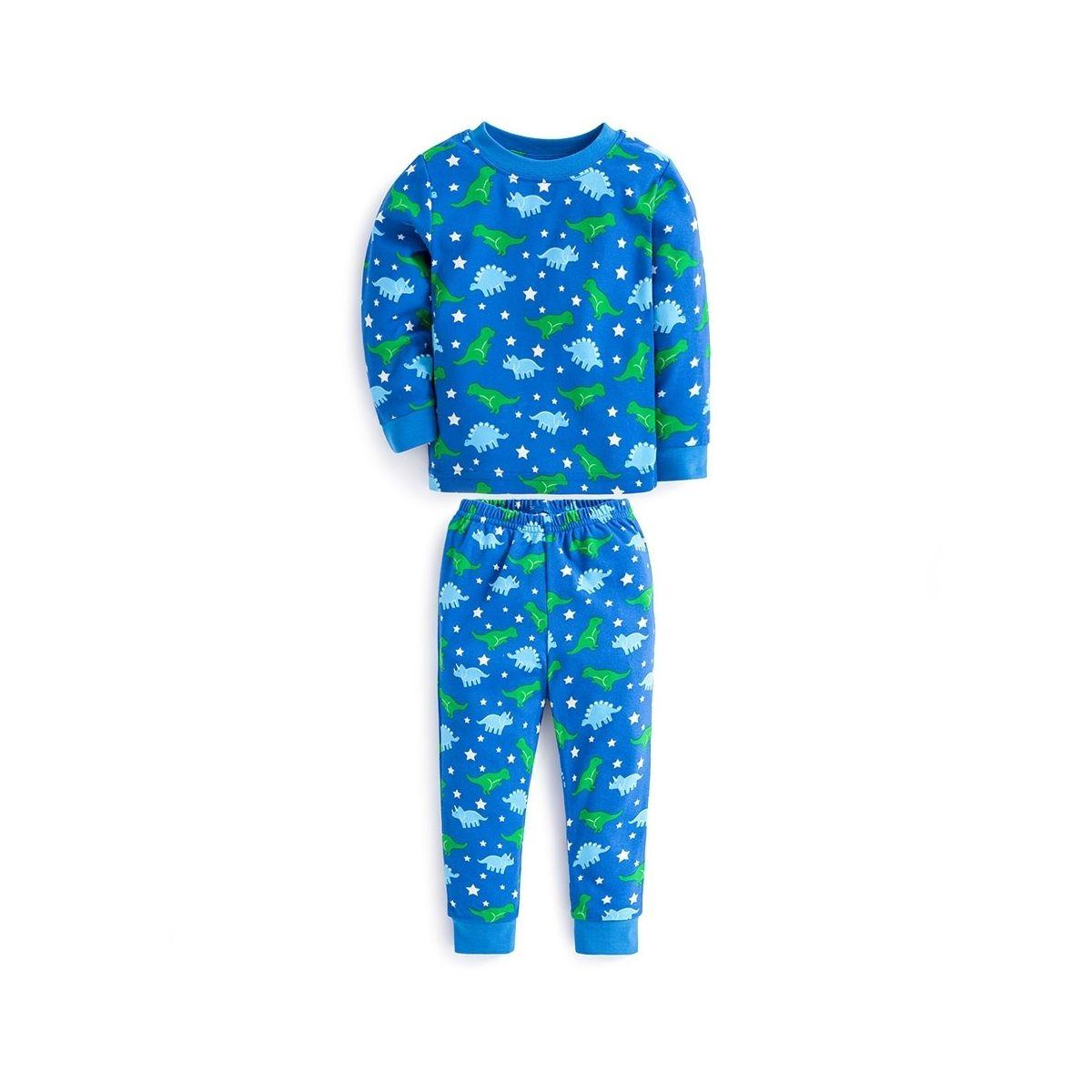 c916218b7 Pijama Niño Azul Dinosaurios Brilla Oscuridad - ShopMami