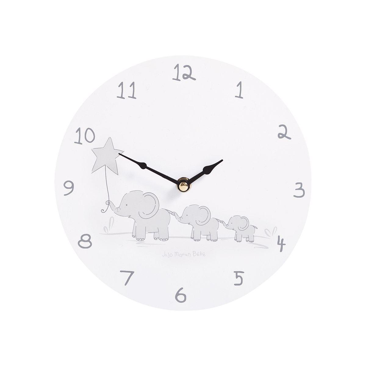 2af032c77ee5 Reloj de Pared Infantil Elefantes Grises - ShopMami