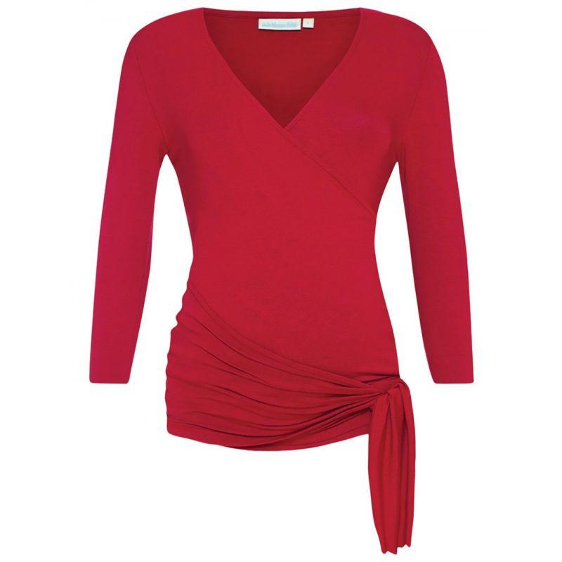 Camiseta premamá roja manga larga
