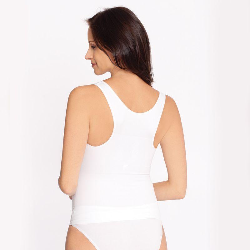 Camiseta Premamá con Refuerzo Muscular Blanca
