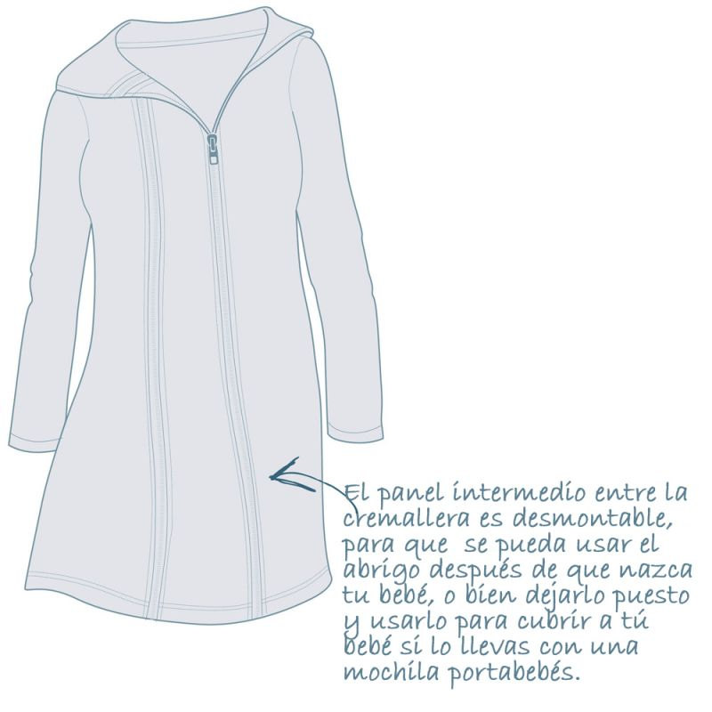 como usar un abrigo premamá
