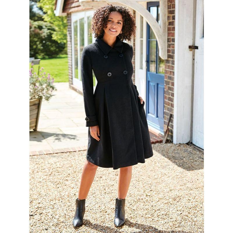 abrigo premama largo negro
