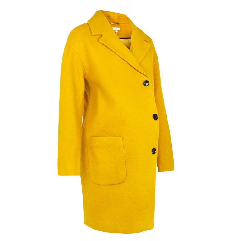 Abrigo Premamá Texturizado amarillo