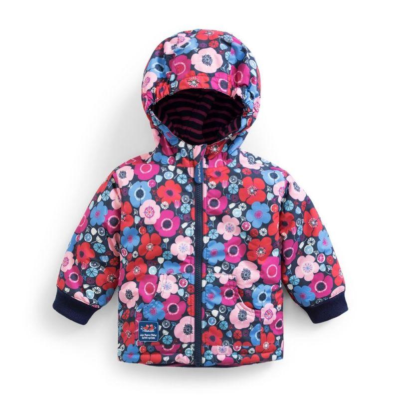 Abrigo polar y reversible para Niña Estampado Flores