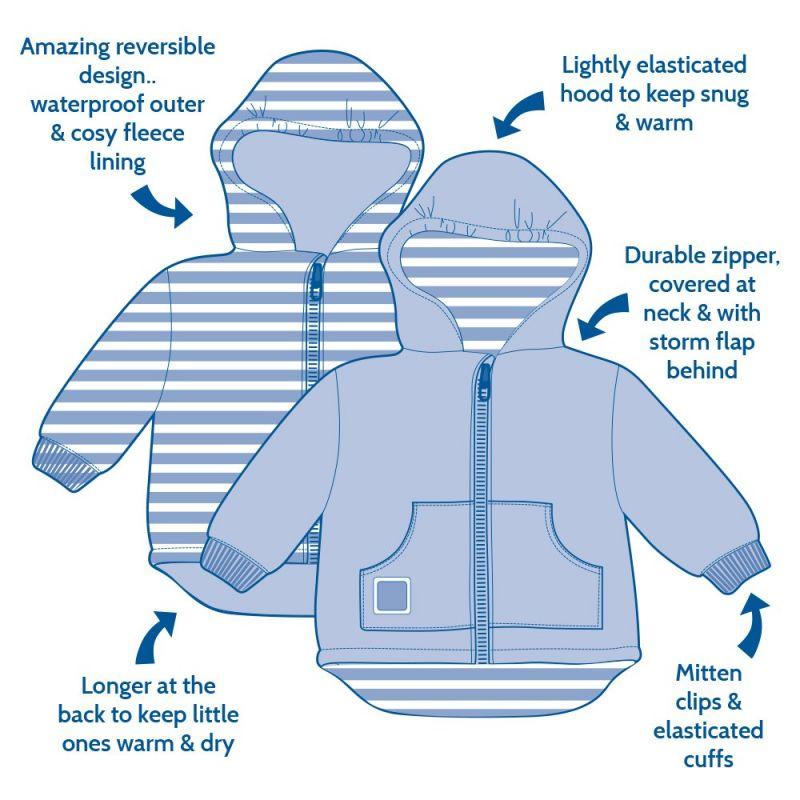 composición abrigo polar y reversible