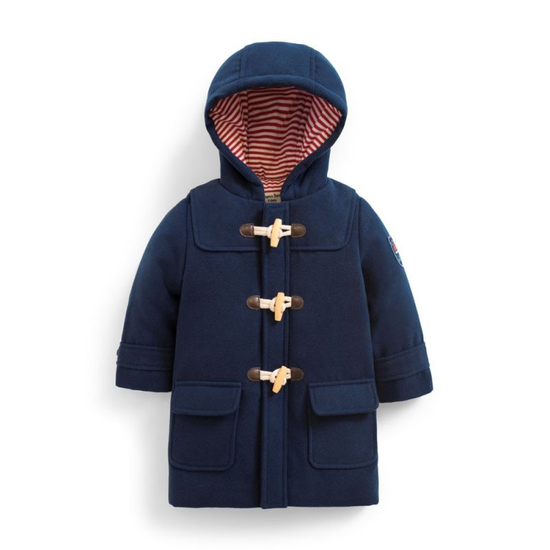 Abrigo Trenca Larga para Niño en color Azul Marino