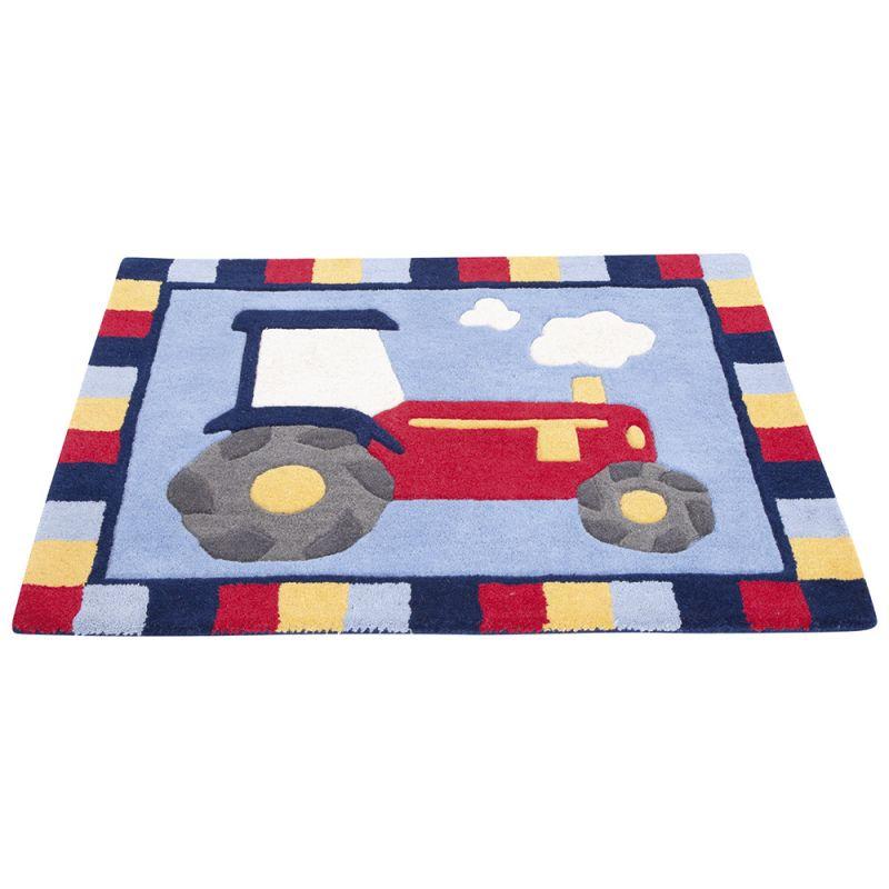 Alfombra para Habitación Infantil Tractor de lana