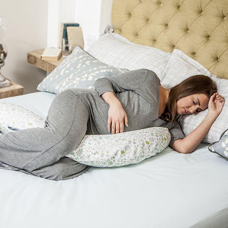 Almohada para el Embarazo Dreamgenii color gris y verde naturaleza