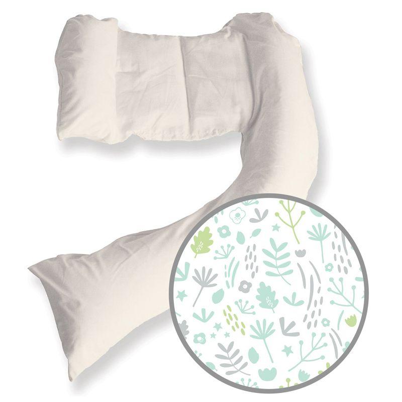 Almohada Embarazo y Lactancia Dreamgenii - Funda de Algodón Estampada