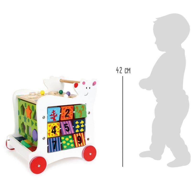 Andador de Madera para Bebés con Actividades Oso