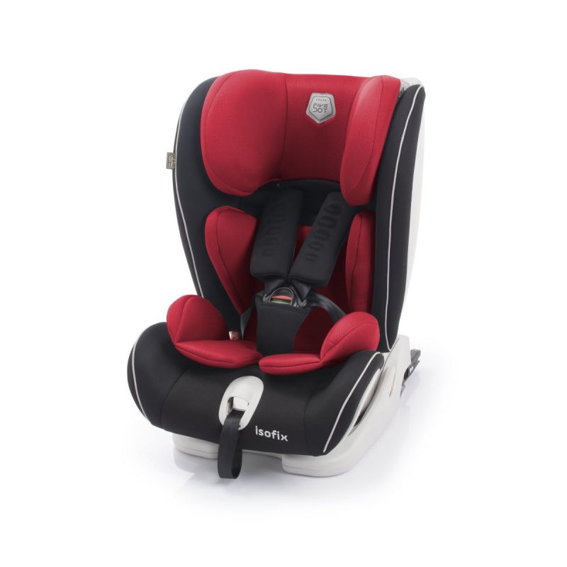 Silla Coche Arka Fix Grupo 1-2-3 5Dot color rojo