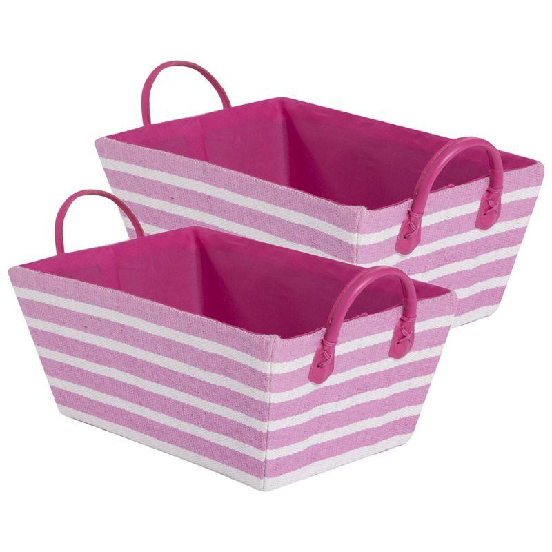 Cestas de Almacenamiento Decorativas en color rosa