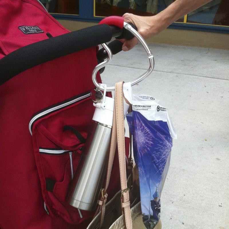 Gancho para cochecitos, carritos y sillas de bebé con forma de corazón
