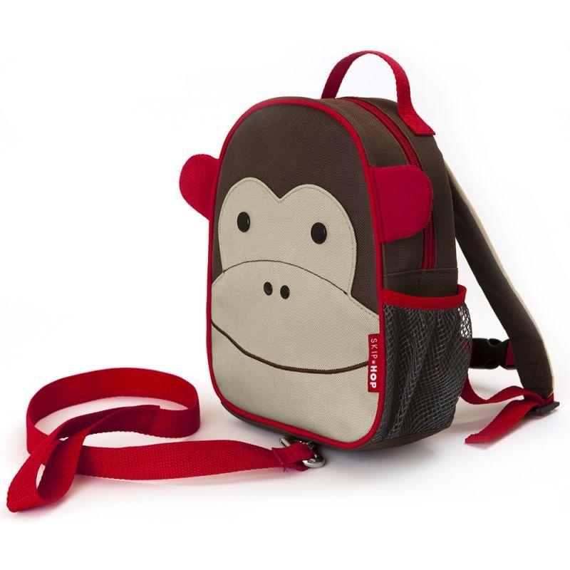 Mochila para Niños con Arnés de Seguridad SkipHop Monkey