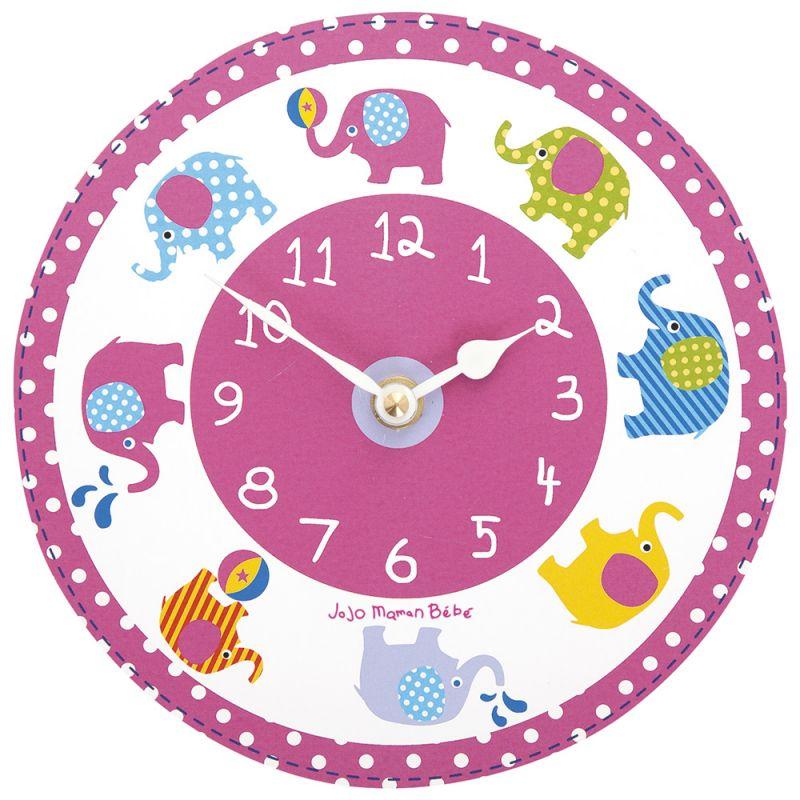 Reloj de Pared para Dormitorio Infantil Elefantes