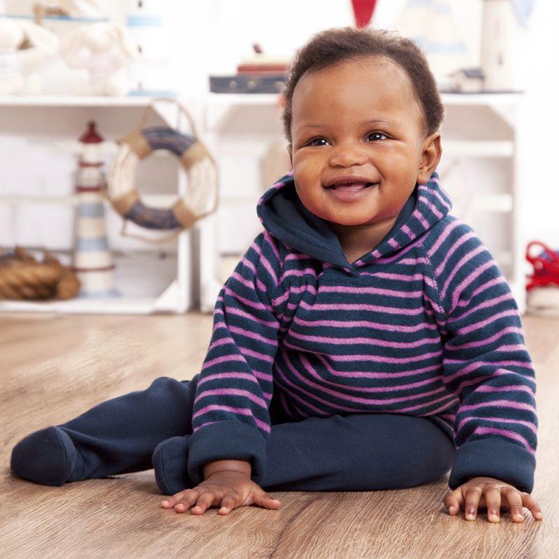 Pantalones bebé a Rayas Navy y Fucsia