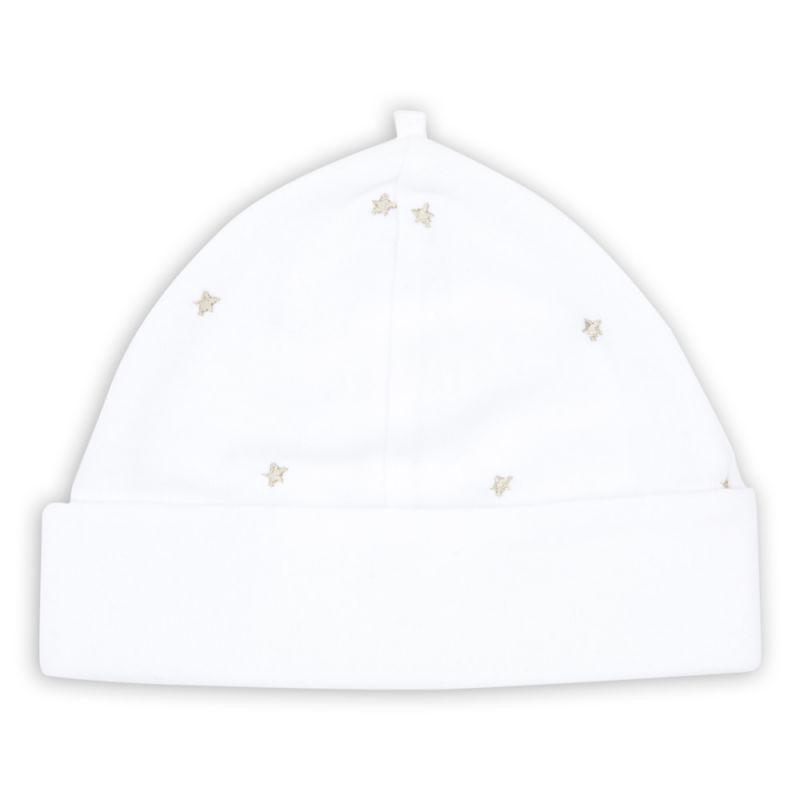 Gorrito para Bebé Unisex en color blanco bordado