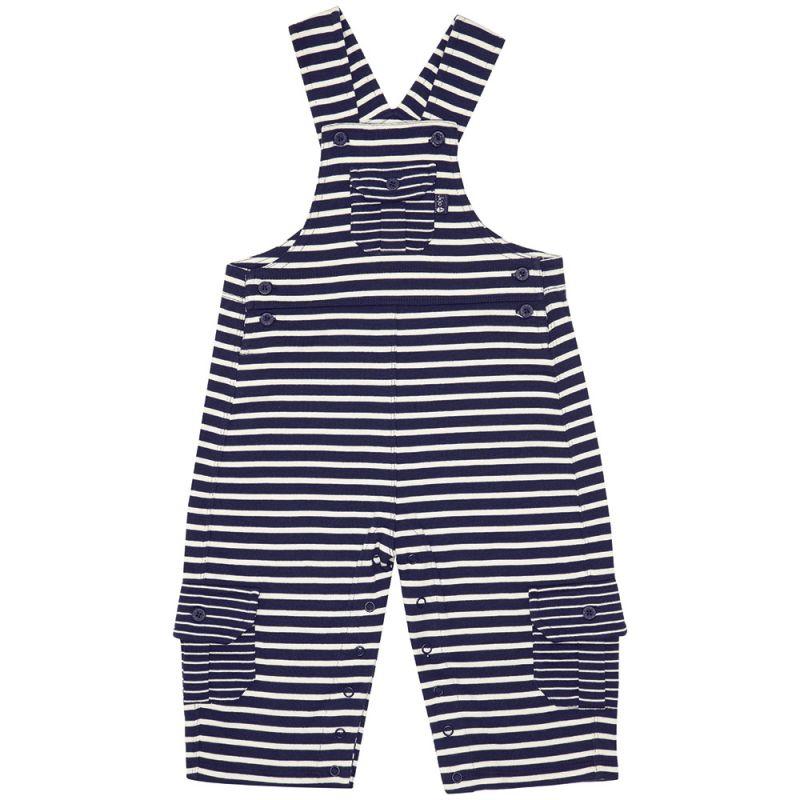Pantalón de Peto para Bebés a Rayas Azul Marino