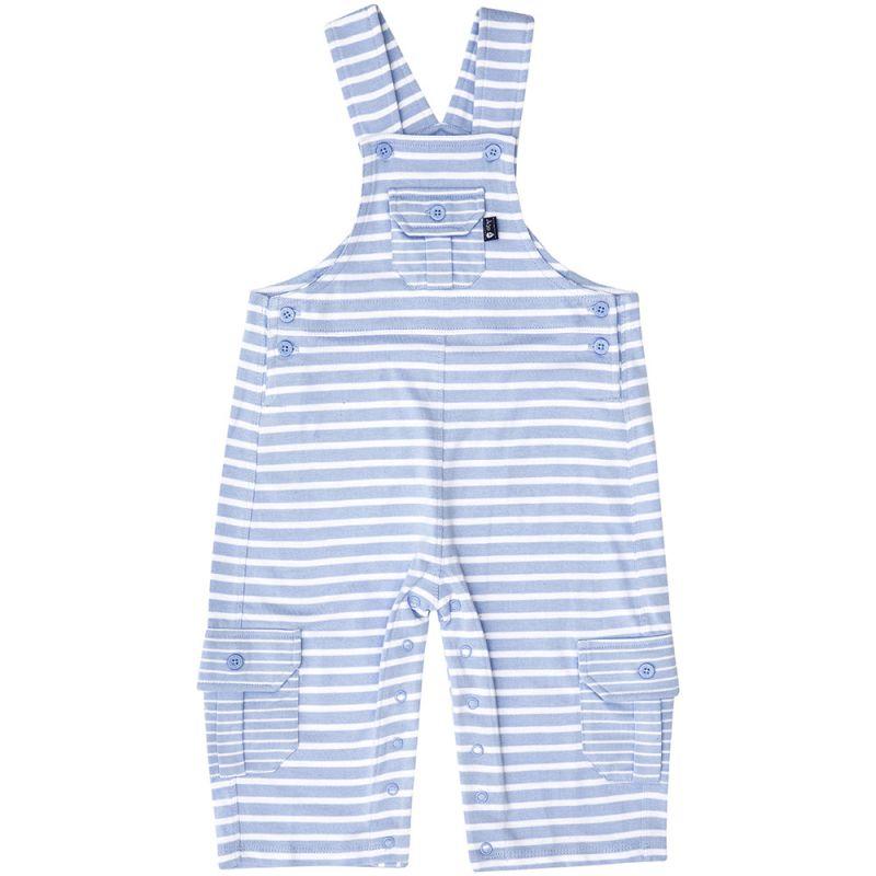 Pantalón de Peto para Bebés a Rayas Azul Claro