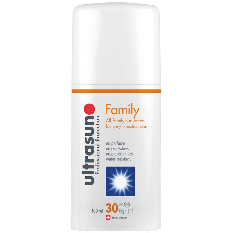 Protector Solar Ultrasun Factor 30+. Especial Familia