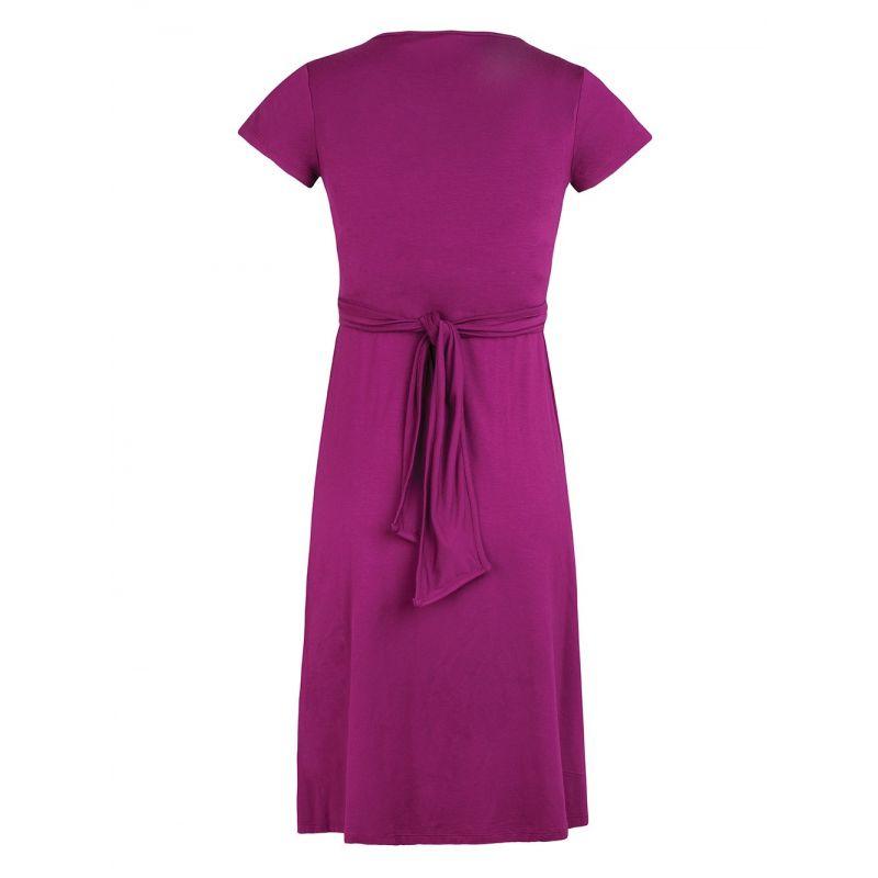 Vestido Premamá y Lactancia Liah en color cassis