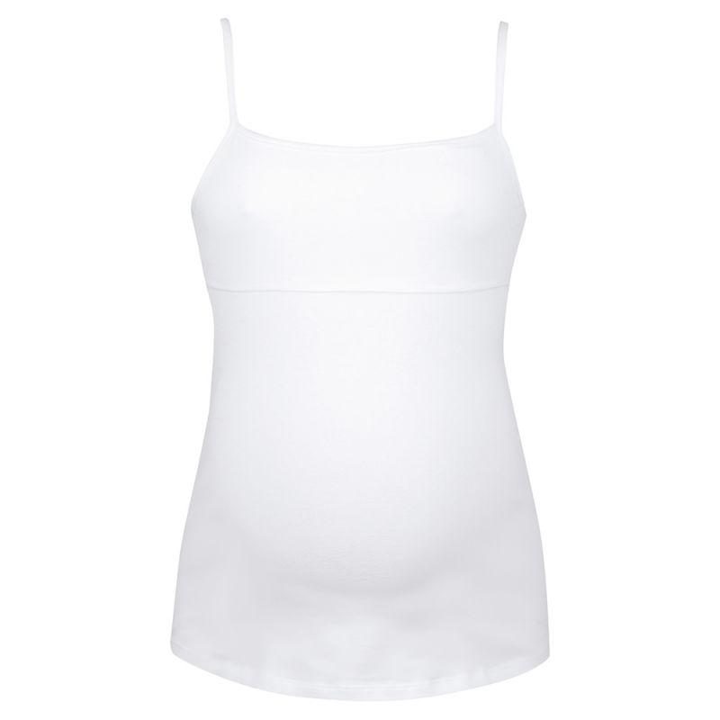 Camiseta de Tiras Premamá Blanca