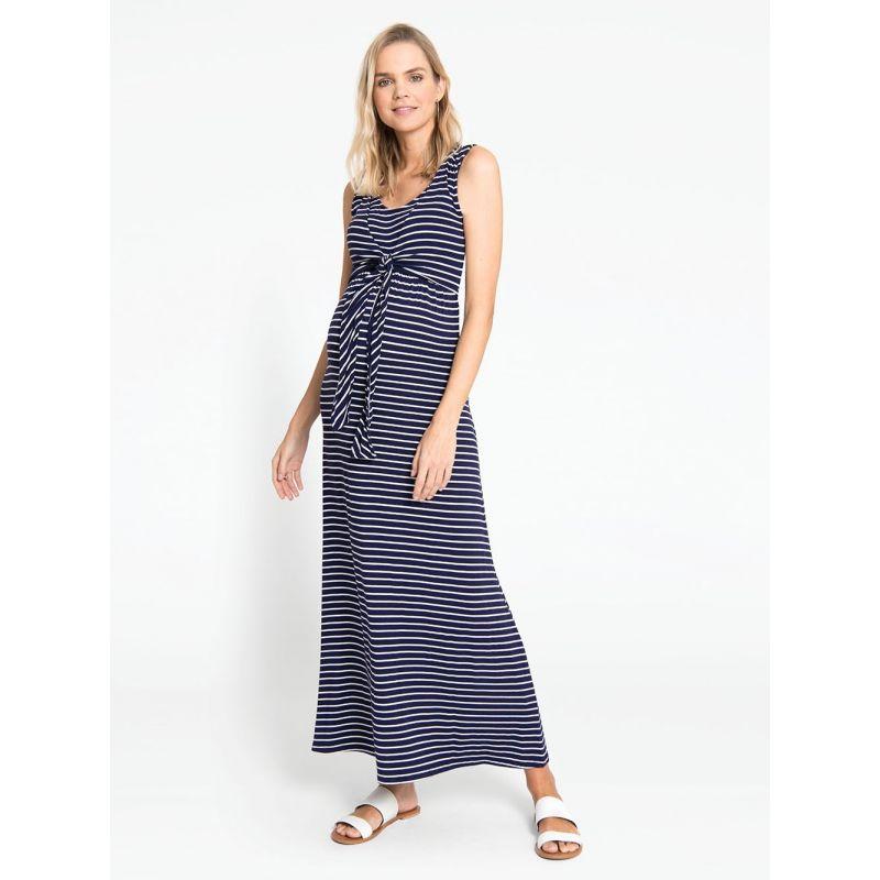 Maxi Dress Premamá y Lactancia Navy