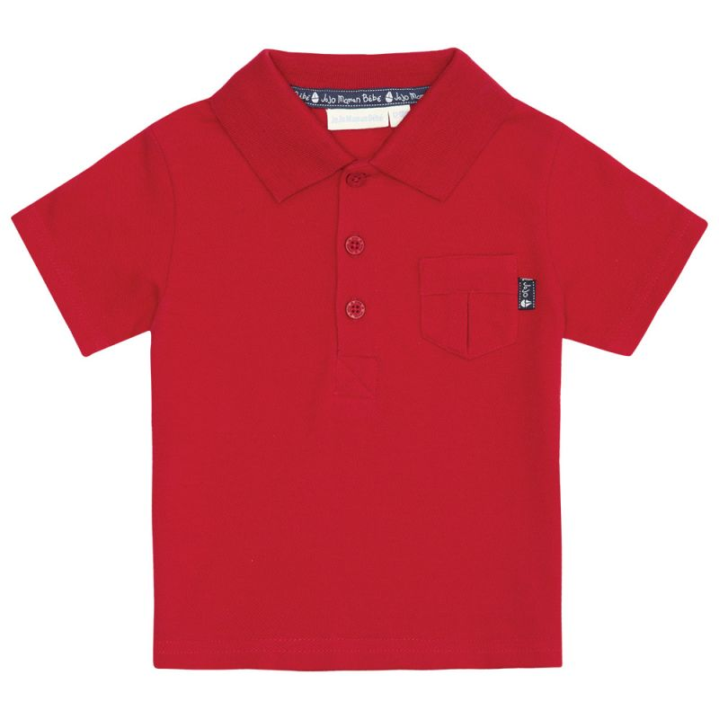 Polo de Niño Liso Rojo